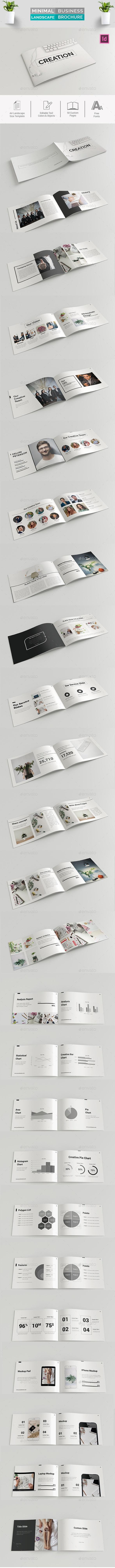 Minimal Business Landscape Brochure - Corporate Brochures