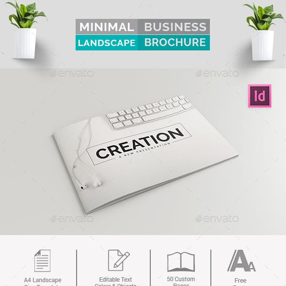 Minimal Business Landscape Brochure