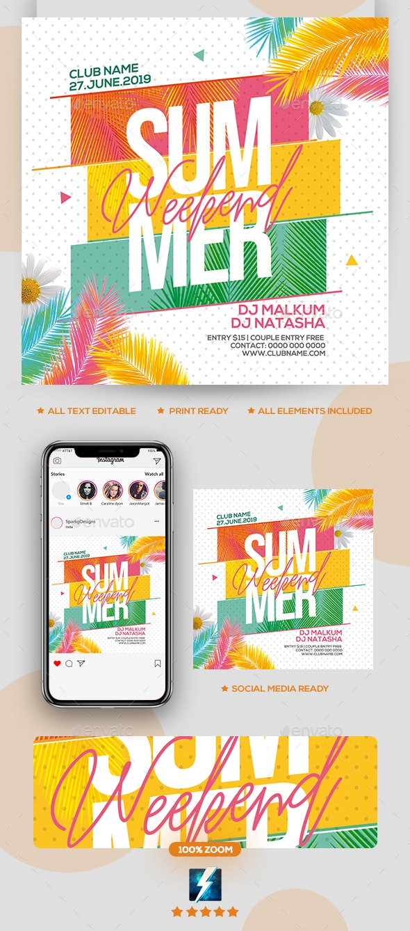 Summer Weekend Party Flyer - Clubs & Parties Events