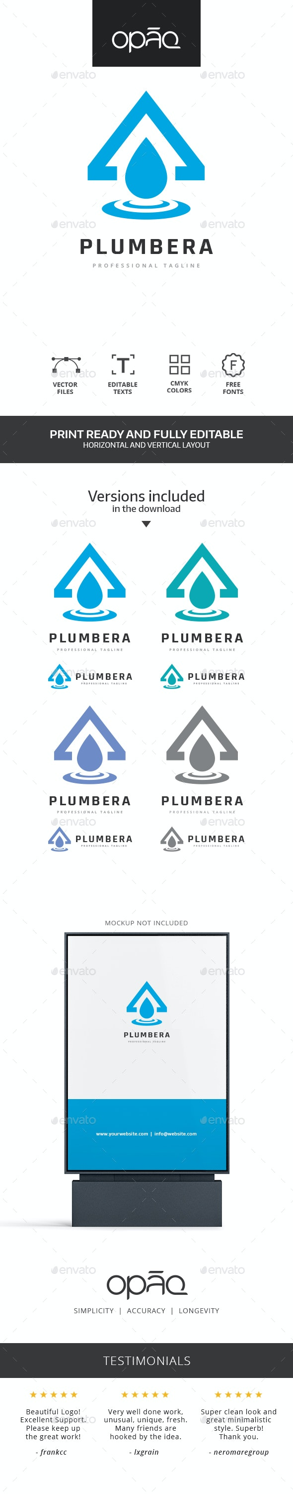Home Water Drop Logo - Symbols Logo Templates