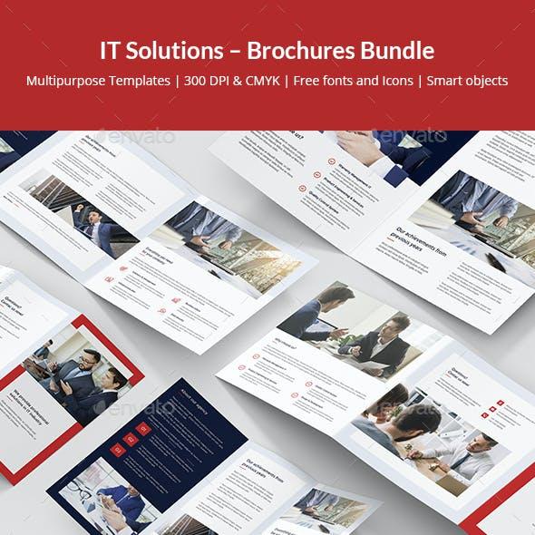 IT Solutions – Brochures Bundle Print Templates 5 in 1
