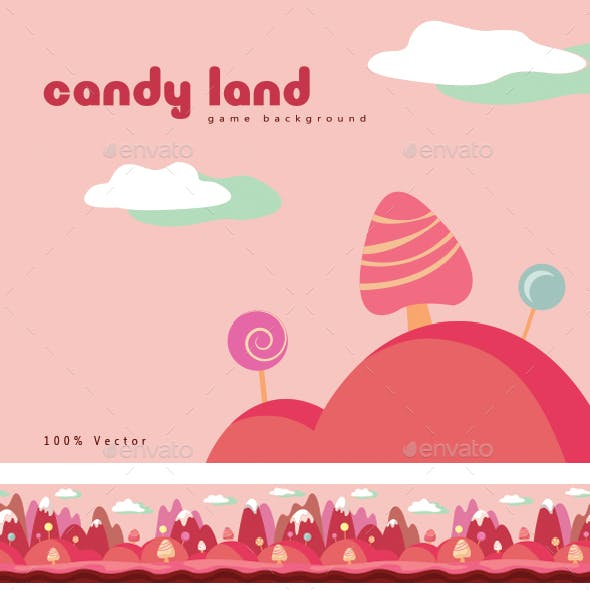 Candy Land Background