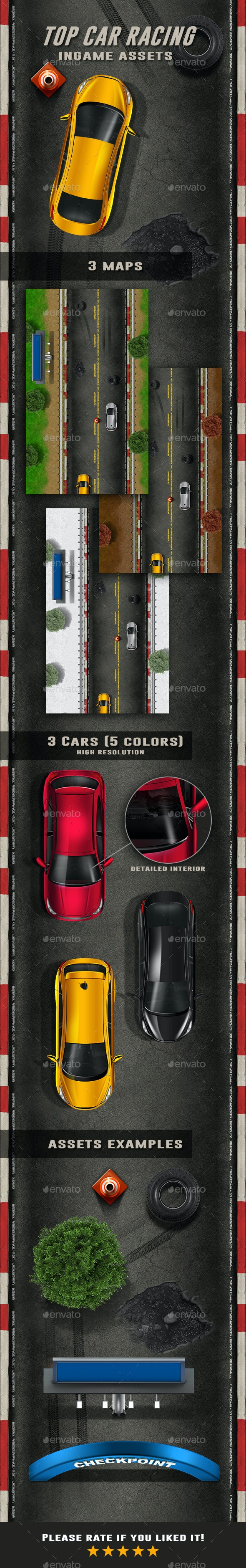 Top Car Racing - Miscellaneous Game Assets