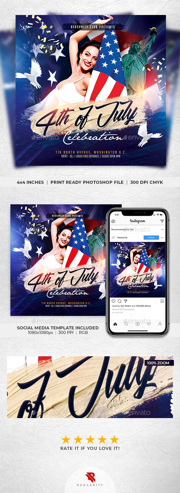 4th of July Celebration Flyer - Holidays Events