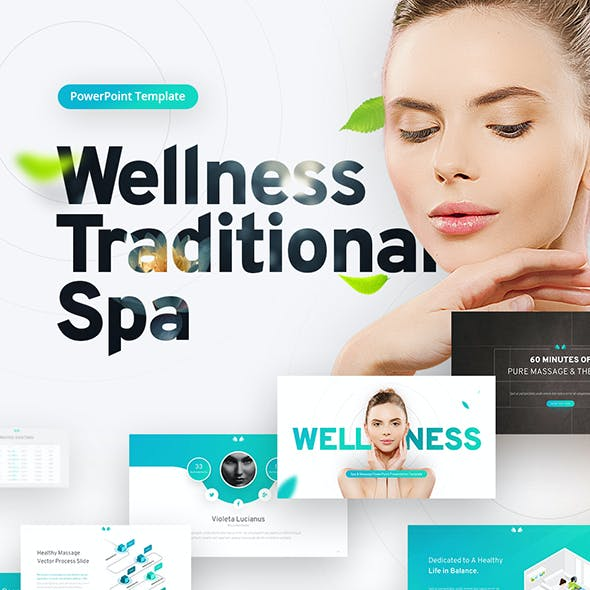 Wellness Spa & Beauty PowerPoint Template