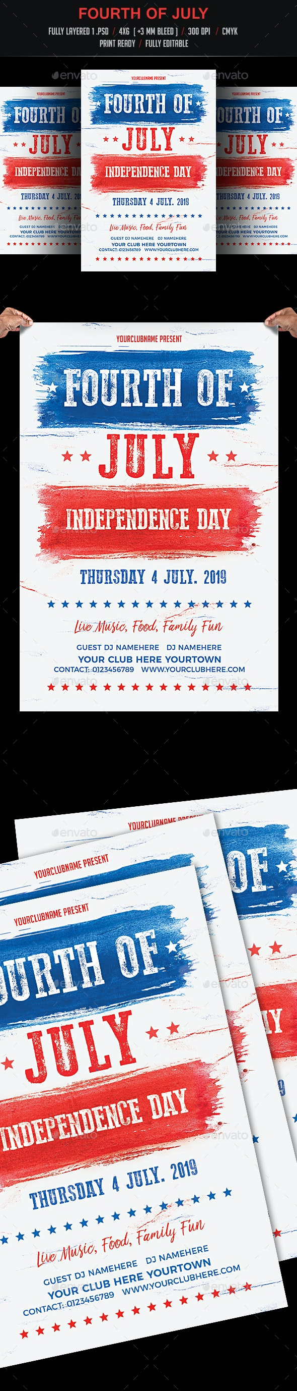 Fourth of July Flyer - Events Flyers