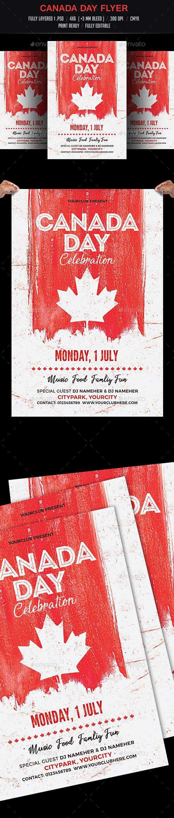 Canada Day Celebration Flyer - Events Flyers