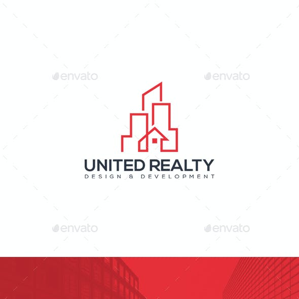 United Realty Logo Template