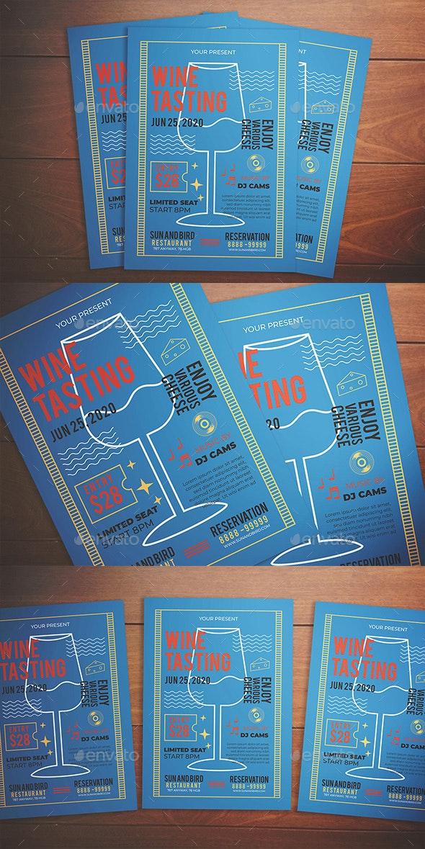 Wine Tasting Flyer - Flyers Print Templates
