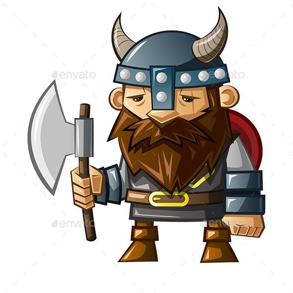 Viking Character Design - Characters Vectors