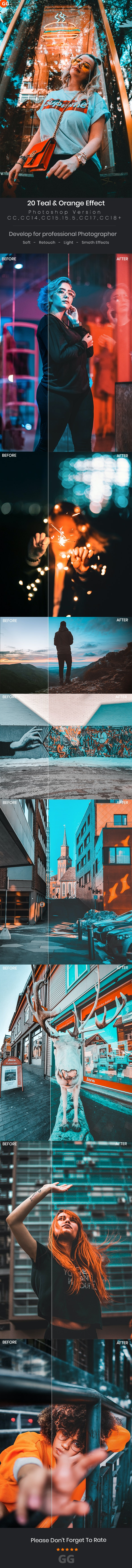 20 Teal & Orange Effect - Photo Effects Actions