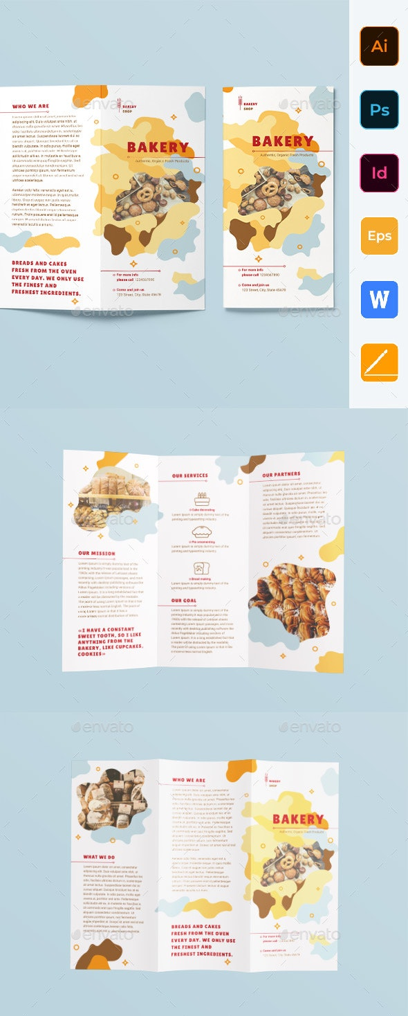 Bakery Trifold Brochure - Corporate Brochures