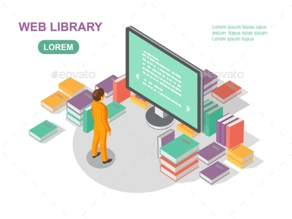 Media Book Library Concept Reading Web Archive - Web Technology