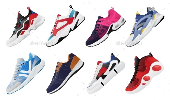 New Fitness Sneakers Set - Sports/Activity Conceptual