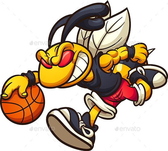 Hornet Playing Basketball - Sports/Activity Conceptual