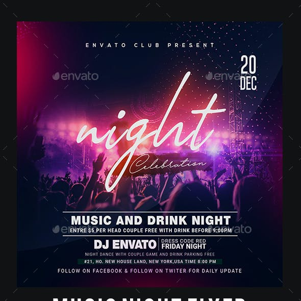 Music Night Party Flyer