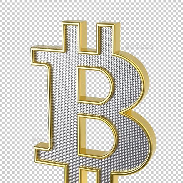 Golden Bitcoin Sign