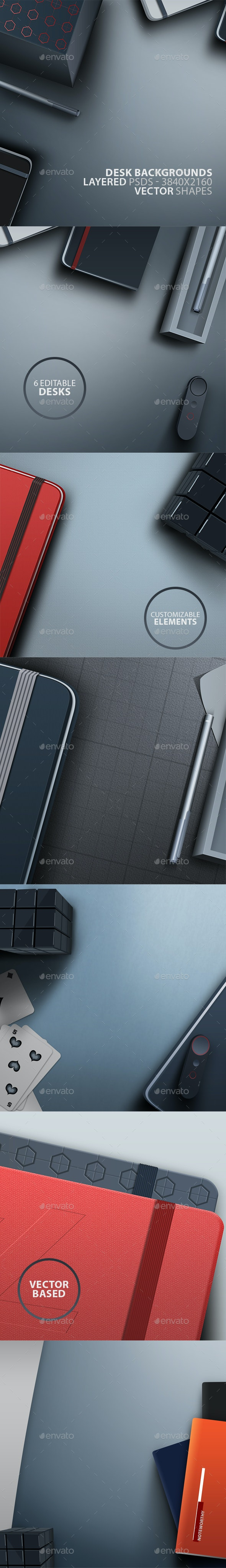 Clean Layered Desk PSDs - Miscellaneous Backgrounds