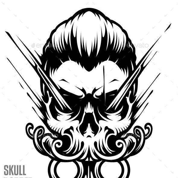 Skull Barber Vector Art