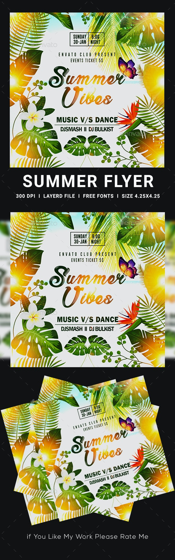 Summer Party Flyers - Events Flyers
