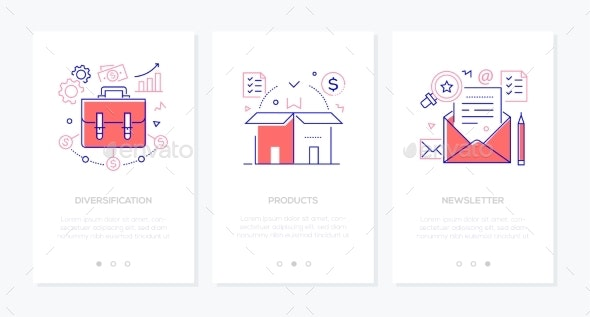 Business and Finance - Set of Line Design Style - Concepts Business