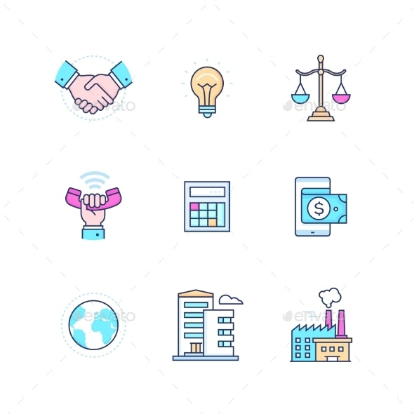 Business Concepts - Modern Line Design Style Icons - Concepts Business