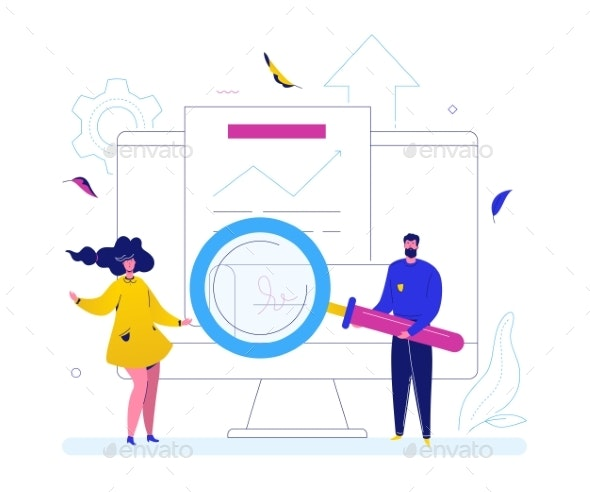 Partnership Concept - Flat Design Style Colorful - Concepts Business