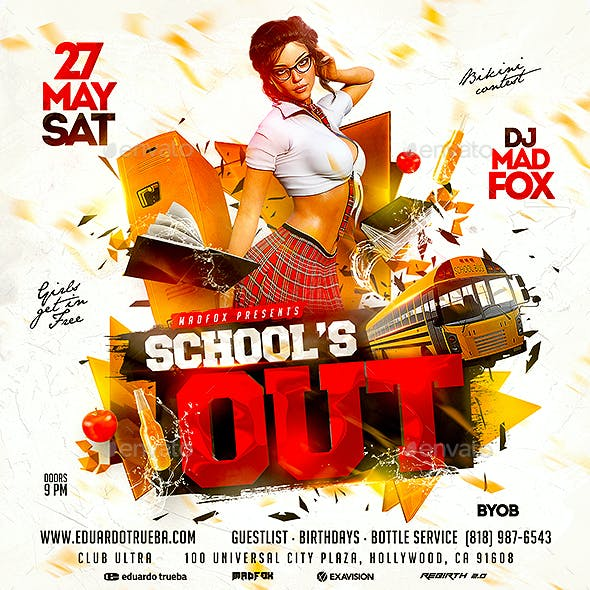 School's Out Party Flyer