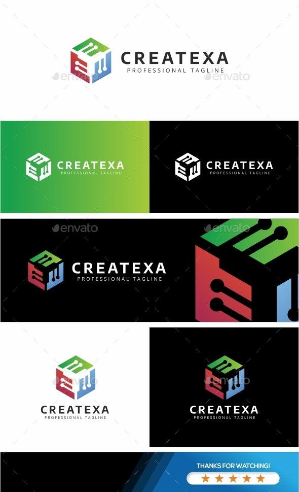 Createxa - Hexagon Logo Template - Abstract Logo Templates