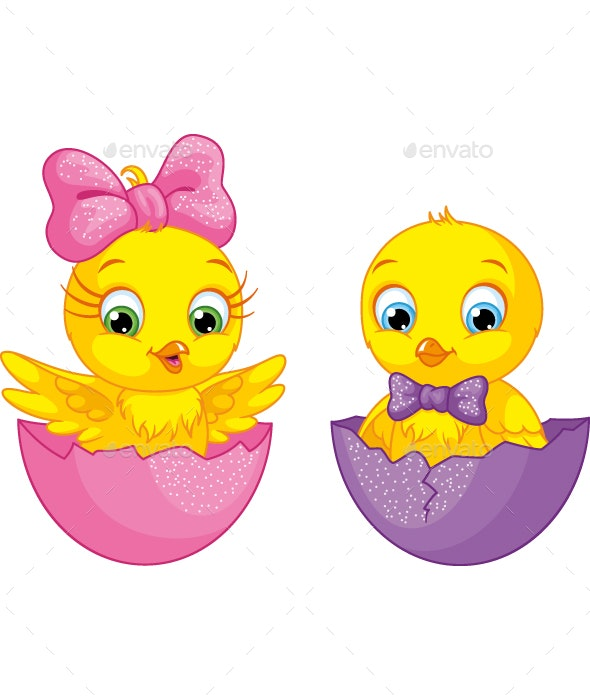 Cartoon Chicks - Animals Characters