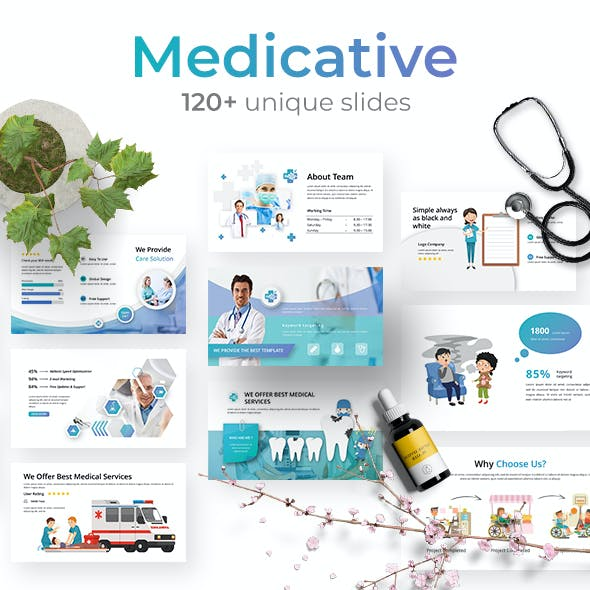 Medicative - Health Powerpoint Template 2.0 BIG UPDATE