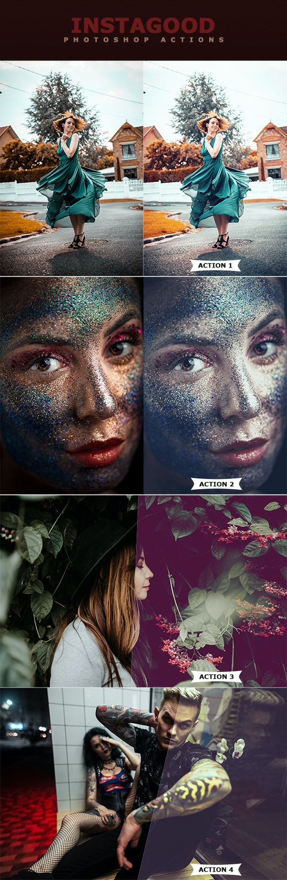 Instagood Photoshop Actions - Photo Effects Actions