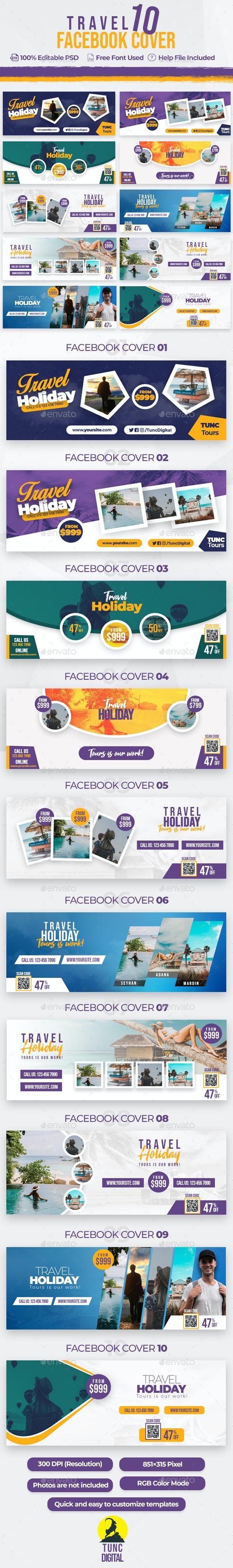 Travel 10 Facebook Cover - Facebook Timeline Covers Social Media