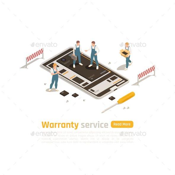 Warranty Service Isometric Design Concept