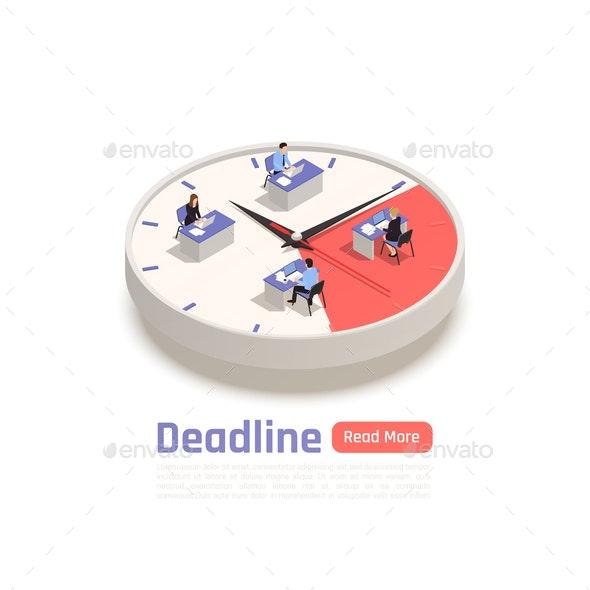 Deadline Isometric Business Concept - Concepts Business