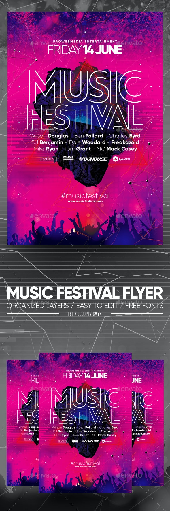 Music Festival Flyer - Clubs & Parties Events