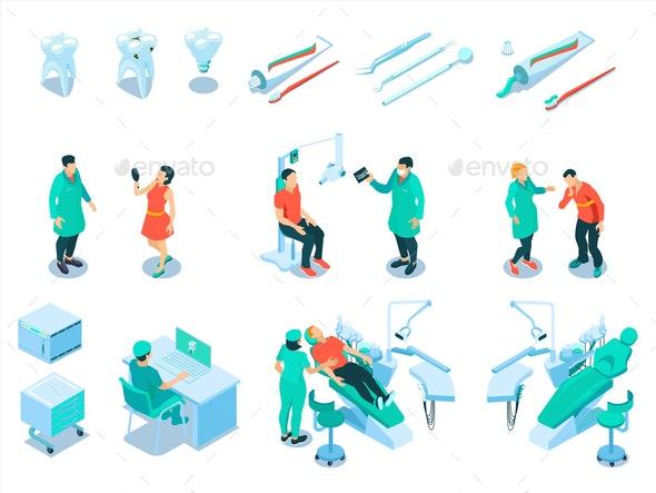 Dental Care Set - Health/Medicine Conceptual