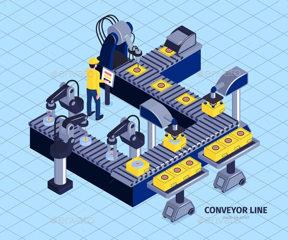 Automated Conveyor Line Composition - Industries Business