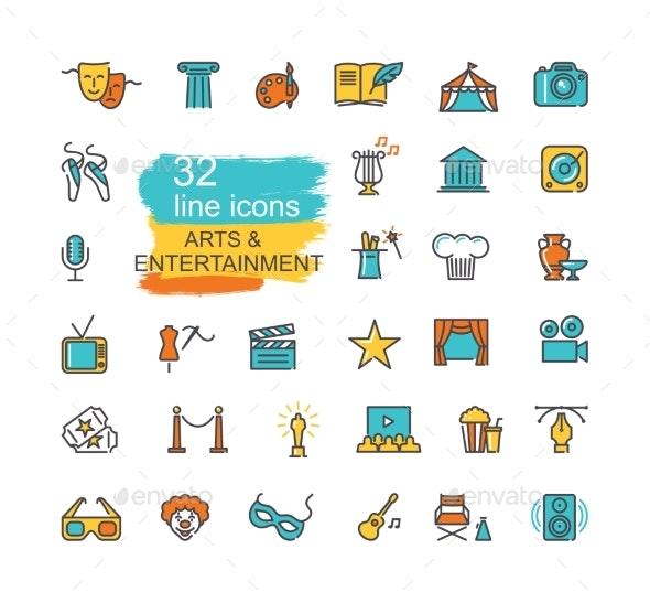 Arts and Entertainment Icon Set - Miscellaneous Vectors