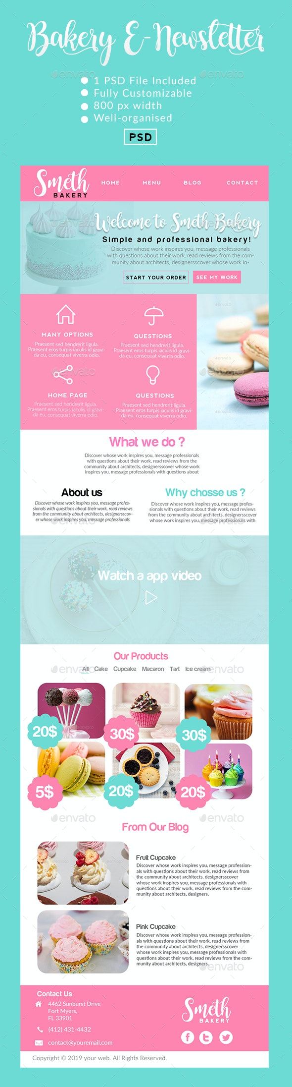Smeth | Bakery E-Newsletter - E-newsletters Web Elements