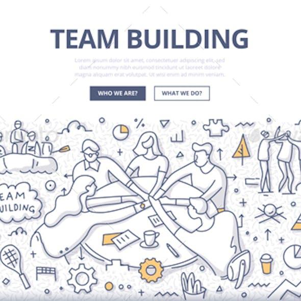 Team Building Doodle Concept