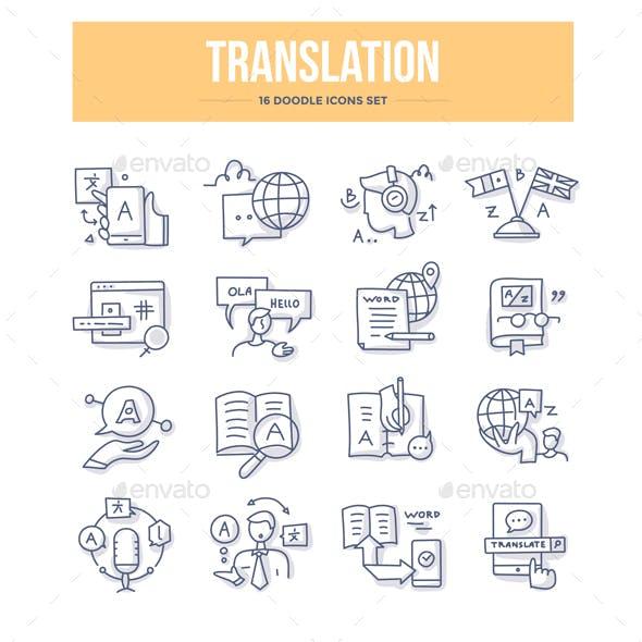 Translation Doodle Icons