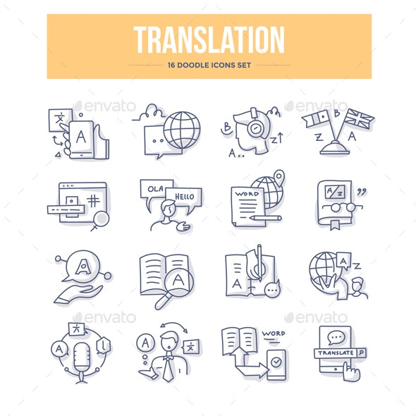 Translation Doodle Icons - Miscellaneous Icons