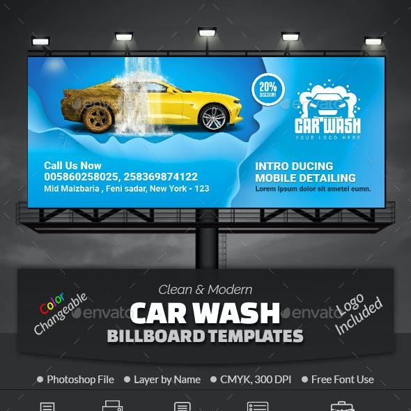 Car Wash Billboard