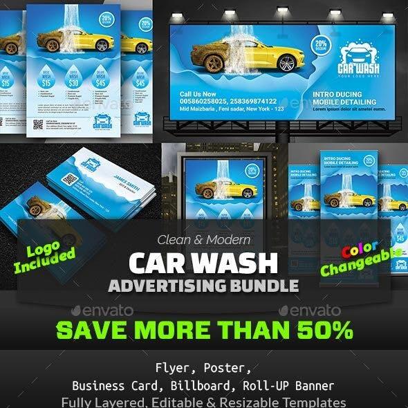 Car Wash Advertising Bundle Vol.1