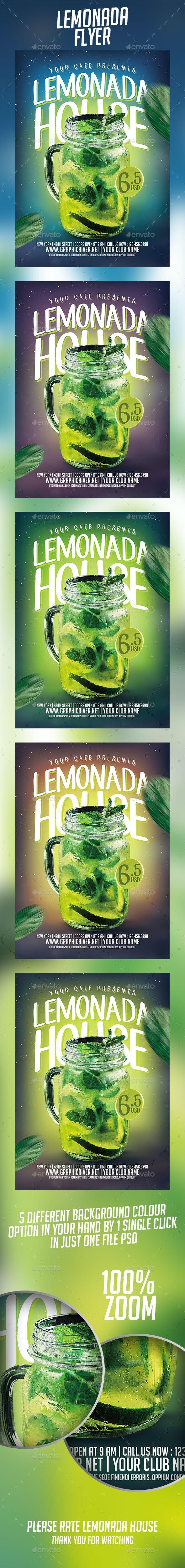 Lemonada House Flyer - Flyers Print Templates