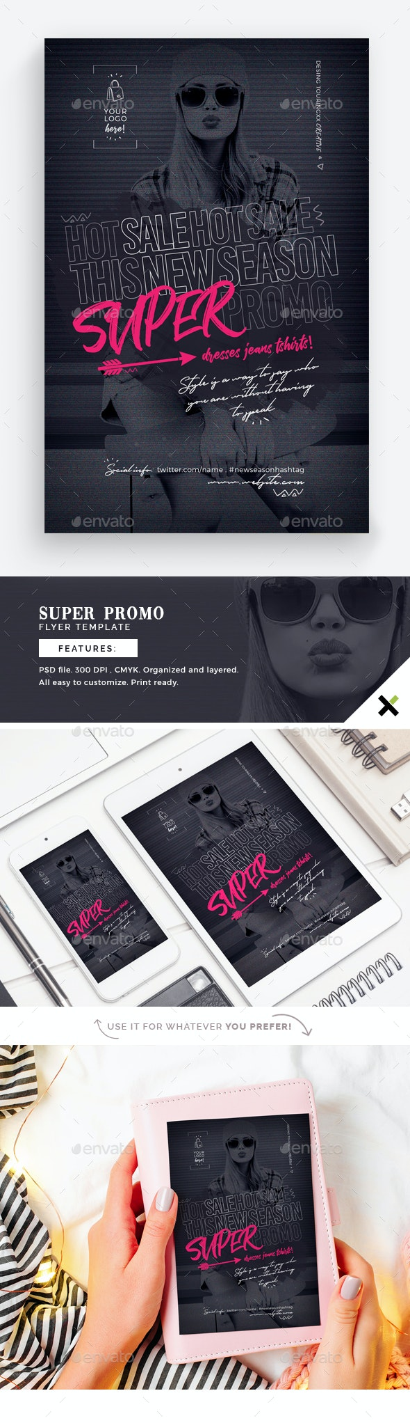 Super Promo Flyer Template - Flyers Print Templates