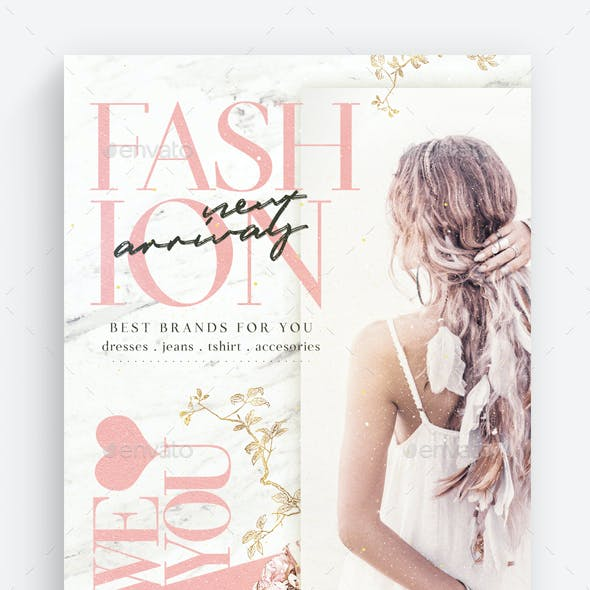 Fashion New Arrivals Flyer Template