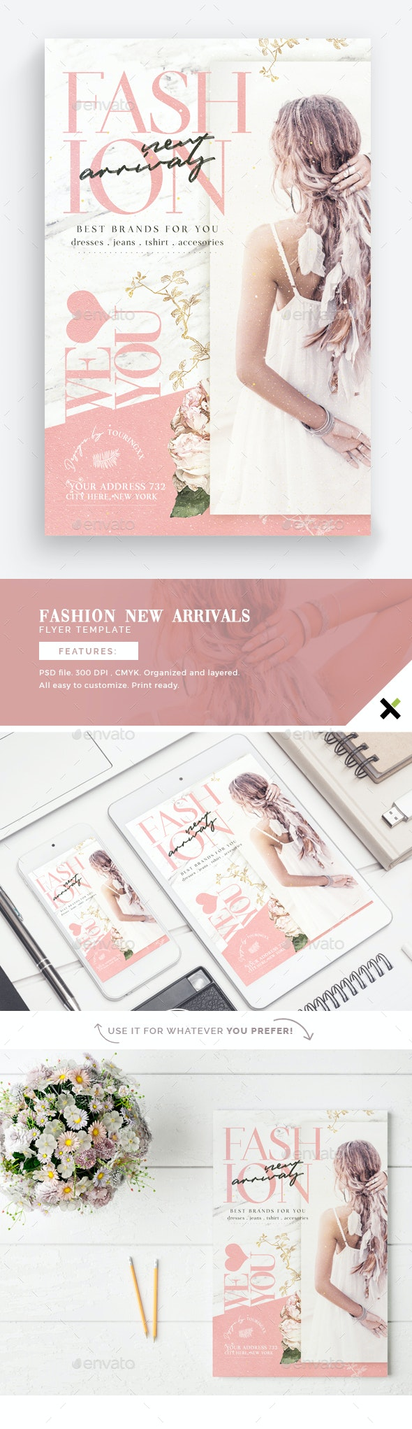 Fashion New Arrivals Flyer Template - Flyers Print Templates