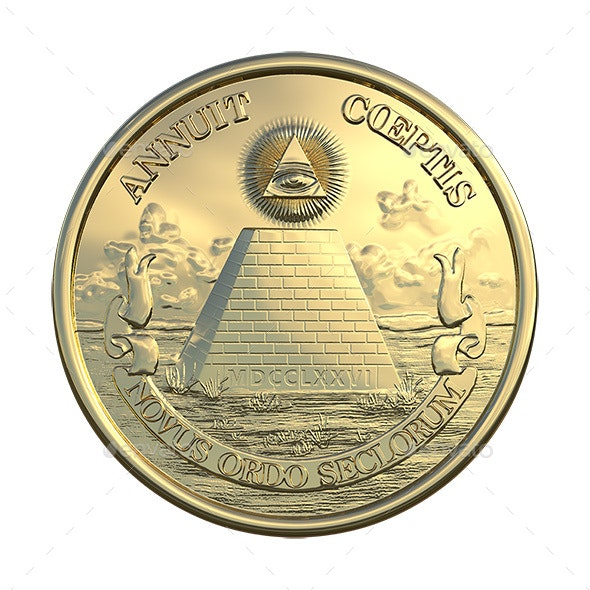 Great Seal of United State Reverse Side - Logo Product Mock-Ups